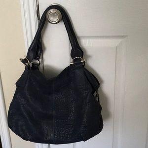 Sundance Blue Leather Shoulder Bag